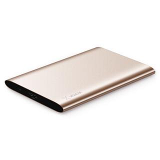 小盘(XDISK)2TB USB3.0移动硬盘X系列2.5英寸玫瑰金 超薄全金属高速便携时尚款 文件数据备份存储 稳定耐用
