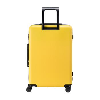 bromen 不莱玫 熊本熊合作款拉杆箱行李箱男女密码箱旅行箱 B70207105086 hello kumamon 磨砂黄 28英寸