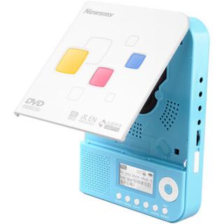纽曼(Newsmy)DVD-L350状元版 CD随身听 VCD播放器 英语学习机 复读机 DVD插卡U盘播放机 迷你音响蓝色