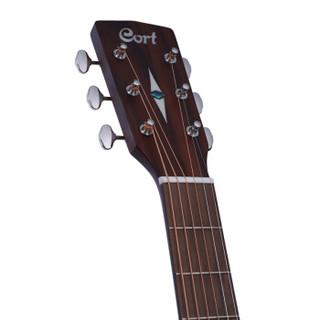 考特(CORT)L300VF 40寸指弹面背单复古设计演出录音电箱民谣吉他 高光复古黄色圆角木吉他