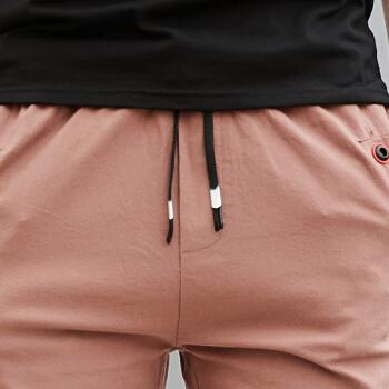Bejirog 北极绒 休闲直筒五分裤男青年韩版直筒短裤薄款运动沙滩裤男友 1821