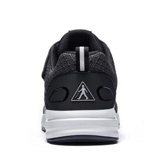 足力健 老人鞋男女防滑散步减震舒适爸爸妈妈运动休闲健步 ZLJ7709 男款(黑色) 41