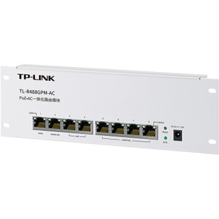 TP-LINK TL-R488GPM-AC PoE·AC一体化路由模块 内置AC功能 PoE供电 双WAN口 APP管理 千兆