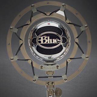 Blue Ringer 专业金属防震话筒支架 snowball雪球电容麦克风配件 台式电脑手机游戏直播主播唱歌录音 白色