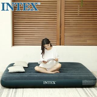 INTEX 2019年新款64731线拉充气床垫 露营气垫床 户外防潮垫 家用空气床午休躺椅单人折叠床76*191*25cm