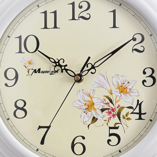 枫叶(MapleLeaf)欧式现代时尚创意客厅创意挂钟挂表 白色292-2