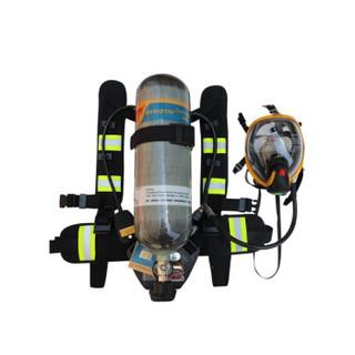 腾驰3C认证6.8L正压式消防空气呼吸器防烟氧气全面罩自给式呼救器 6.8L碳纤维瓶(带3C认证)
