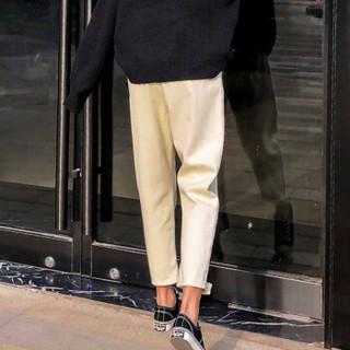 YUZHAOLIN 俞兆林 韩版宽松萝卜裤春秋款百搭时尚牛仔裤女 YWKN191642