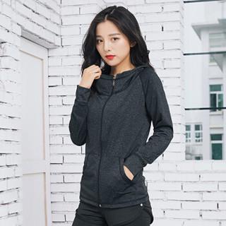 南极人 NanJiren 瑜伽服套装女修身显瘦健身服跑步运动服健身房运动套 高腰五件套黑 M