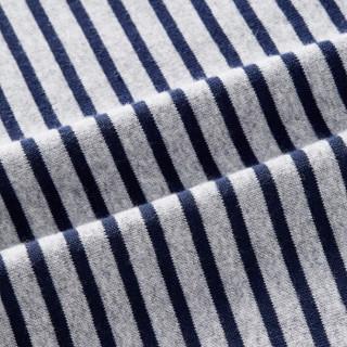 全棉时代 男幼童针织罗纹条纹打底衫120/56(建议6-7岁) 深蓝细条1件装