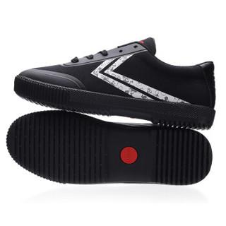 dafufeiyue 大孚飞跃 大孚飞跃米奇90周年迪士尼跨界限量合作款亲自帆布男女小白鞋 DFM90-3 黑白 29