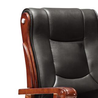 欧宝美会议办公椅实木扶手会议椅现代简约老板椅