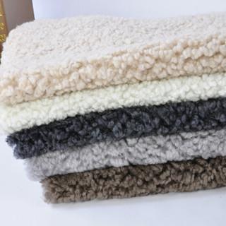 裘朴 纯羊毛沙发坐垫椅垫简约现代飘窗垫子卷羊毛整张羊皮 咖啡色95规格