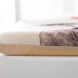 墨斗鱼硬质棉坐垫40*40cm永恒爱0414 餐桌椅子硬海绵座垫办公学生榻榻米坐垫椅垫防滑系带可拆洗秋季冬季方垫