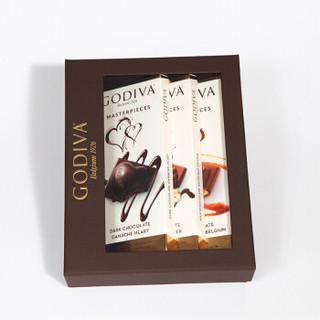GODIVA 歌帝梵 巧克力制品  86g*3块 盒装