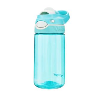 contigo学生塑料水杯夏季运动便携锁扣儿童水壶450ML HBC-DEM018