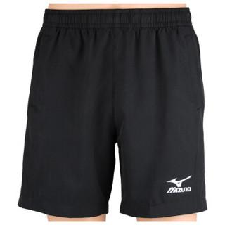 美津浓 运动休闲短裤男士女 美津侬龙跑步速干乒乓球羽毛球裤  72MF7090  黑色  3XL