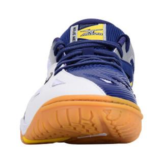 MIZUNO美津浓 乒乓球鞋男款 透气乒乓球运动鞋训练鞋 81GA151514 白蓝 43