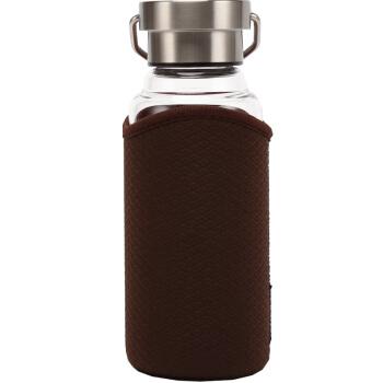 LOCK&LOCK 乐扣乐扣 LLG664BRW 耐热玻璃杯 450ml 棕色