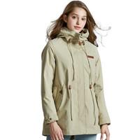 PELLIOT 伯希和 韩版修身可拆卸商务中长款时尚休闲保暖外套 12640110 米白色 M