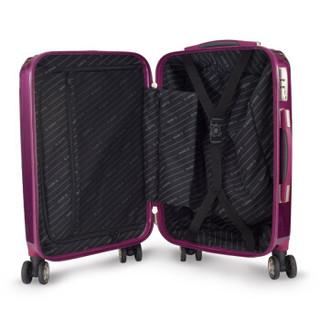 SUMMIT 万向轮拉杆箱PC材质行李箱女20英寸可扩容旅行箱登机箱子防刮 PC154T4A 玫瑰金