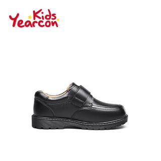 意尔康童鞋男童皮鞋2019春秋新款中大童儿童休闲学生校园演出鞋子ECZ9148722 黑色 32