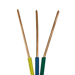 菊花 电线电缆BV1.5平方 单芯单股铜线 家装家用铜芯电线 100米 绿色零线