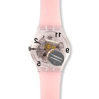 斯沃琪(Swatch)瑞士手表时尚镂空机芯淡粉画板学生石英女表GP158