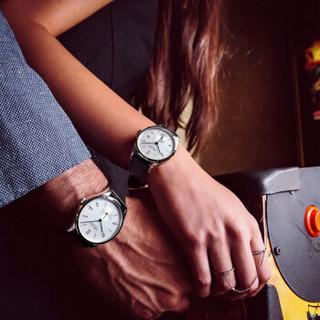 艾戈勒(AGELOCER)琉森系列瑞士手表 简约全自动机械情侣对表大日历透底 金色钢带数字 1102D9-1202D9