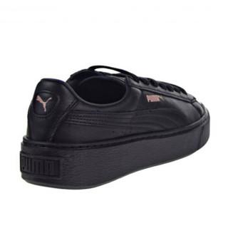 PUMA 彪马 蕾哈娜厚底 休闲松糕鞋 黑色 女鞋 Basket Platform 366169-02  黑色 37