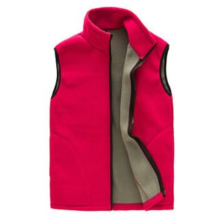 凡淑 2018冬季新品户外抓绒马甲男女保暖外套加厚加绒摇粒绒背心上衣 LLDXJ1640FS 紫色-女 XL