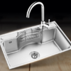 OULIN 欧琳 WG70450单槽+不锈钢龙头水槽套装 700*450mm