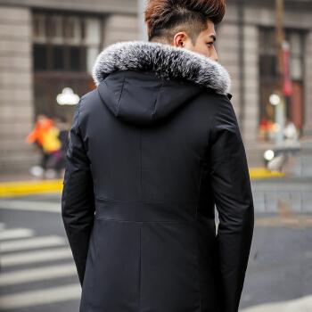 CARTELO 卡帝乐鳄鱼 大毛领加厚外套冬季男装  18002KE8956