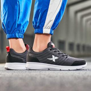 XTEP 特步 男鞋情侣款运动鞋综训鞋款柔软舒适轻便男鞋跑步健身跑步鞋 881119529083 灰黑 42码