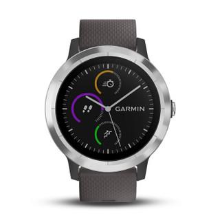 佳明(GARMIN)VA3T 灰色 智能手表 男女跑步腕表 骑行户外瑜伽运动表 睡眠监测防水心率手表