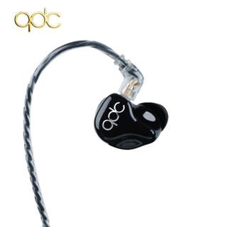 QDC HiFi版3单元公模版动铁耳机入耳式 Hfi3单元公模款-黑色