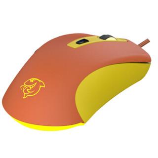 斗鱼(DOUYU.COM)DMG-110橙黄色 游戏鼠标 有线鼠标 游戏办公鼠标 有线电竞吃鸡 压枪FPS鼠标