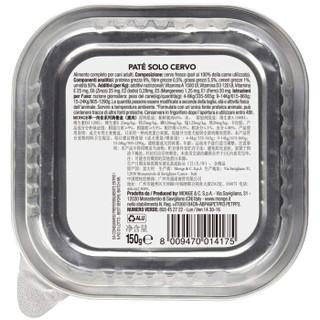 意大利进口 Monge 宠物狗粮 狗罐头 成犬湿粮 主食罐主粮 无谷肉食 鹿肉 150g