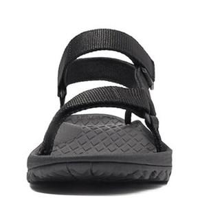 CAMEL 骆驼 户外沙滩鞋 情侣软底厚底海边透气耐磨凉鞋女 A92300621 黑色 37
