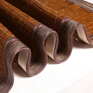 PLAYBOY 夏季单双人麻将凉席竹凉席麻将席碳化竹块子可折叠 碳烧包边凉席 1.5米(5英尺)床