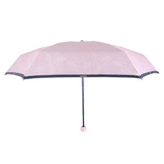 酷波德(KOBOLD)晴雨两用伞女太阳遮阳伞防晒防紫外线伞迷你雨伞折叠女神伞 桃花粉-爱情B
