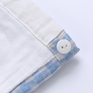 良良(liangliang)婴儿喂奶手臂凉席乐优袖套夏季喂奶枕麻棉哺乳套袖席蓝色32*16cm