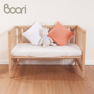 Boori哈伦婴儿床 实木宝宝床澳洲进口拼接床多功能床儿童床幼儿床安全环保植物油BB床 B-HECO 杏仁色