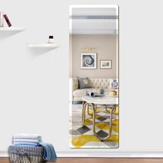 华恺之星 穿衣镜 现代简约 无框圆角斜边墙贴镜 银色 玻璃 150*50cm