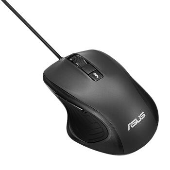 华硕(ASUS)UX300PRO黑静音有线游戏办公鼠标自营便携笔记本家用家用台式机PC即插即用USB人体工学