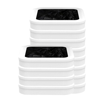 拓牛(TOWNEW)垃圾袋家用加厚加大智能自动打包垃圾桶厨房卫生间客厅卧室通用小米同款 12个装用一年