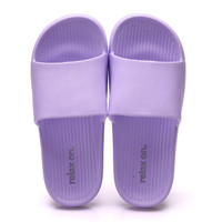 COQUi 酷趣 情侣家居浴室轻简软弹休闲防滑洗澡凉拖鞋女款 紫色37-38 CQ7511