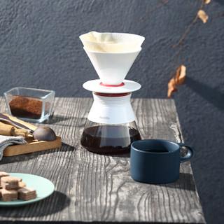Barsetto 手冲咖啡壶 玻璃壶滴滤式陶瓷滤杯BAH156
