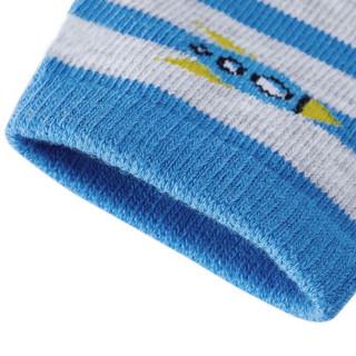全棉时代 幼儿男款无底袜 20*6.5cm 河水蓝+灰蓝条 2双/袋