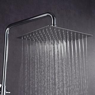 科固(KEGOO)K06087 超薄顶喷花洒头单头 304不锈钢增压大淋浴喷头 方形